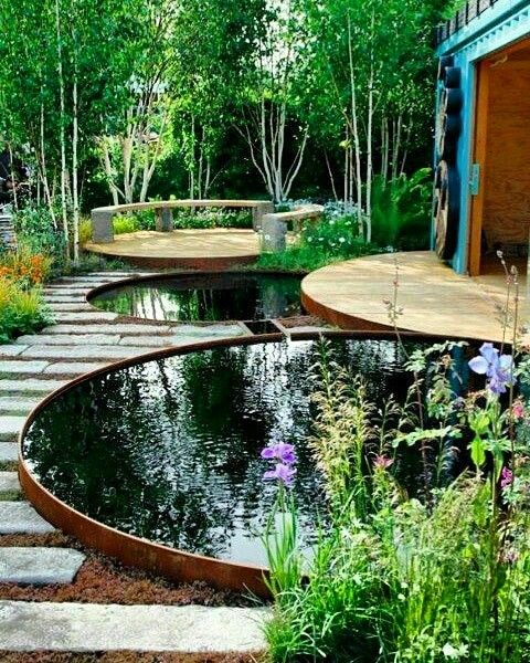 The amazing ont outdoors ,loved the radial decks and the ... on symmetrical garden design, linear garden design, vertical garden design, asymmetrical garden design, rectangular garden design,