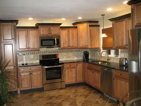 Nice Tiled Backsplash And Crown Molding Kitchen Remodel Done Just Like Ours Aaa New Room
