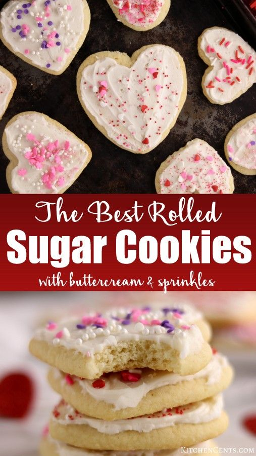 The Best Rolled Sugar Cookies Sour Cream Sugar Cookies Sugar Cookies Recipe Rolled Sugar Cookies