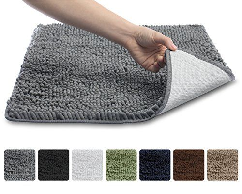The Original Gorilla Grip Slip Resistant Shaggy Chenille Bathroom Rug Mat 3 Sizes And 6 Colors Ex Chenille Bathroom Rugs Bathroom Rugs Washable Bathroom Rugs