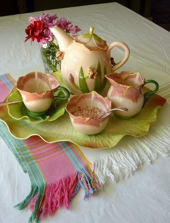"Romantic Tea Set ~ Camellia Sinensis"" - the tea plant"