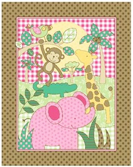 Pre quilted fabric fleece fabric and monkey on pinterest for Baby monkey fabric prints
