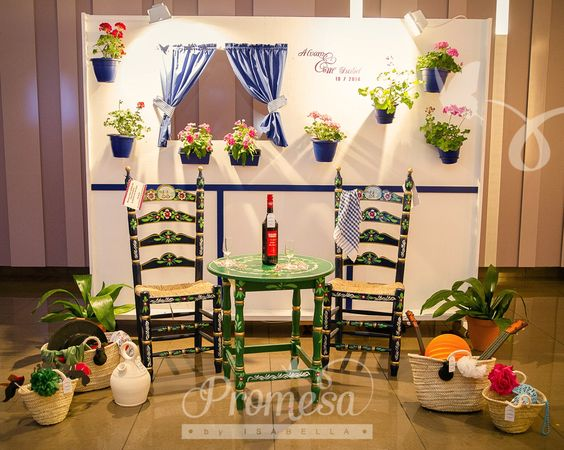 Photocall flamenco bodas wedding planners promesa by - Photocall boda casero ...