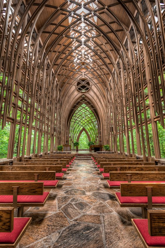 "I LOVE THIS!!! ""Chapel in the Woods"" Arkansas. The perfect compromise for wanting to get married in a church, and outside."