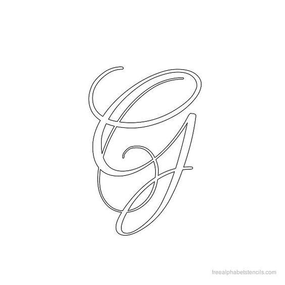 Calligraphy alphabet stencil g letter pinterest