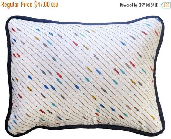 30% OFF Navy Arrow Nursery Pillow for Boys  by NewArrivalsInc