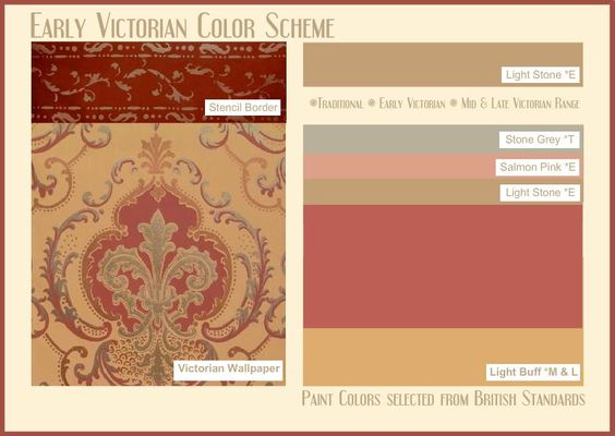 Early Victorian Color Scheme Victorian Era Pinterest