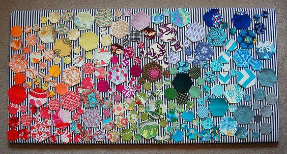 Hexi Rainbow (in progress) by Jenelle@E, via Flickr