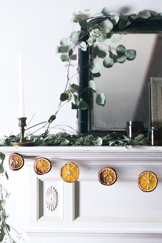 dried orange holiday garland