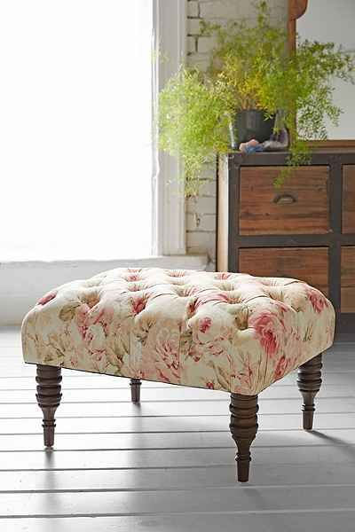 darling floral ottoman