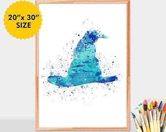 Pin By Nathalie Rodriguez On Tali S Harry Potter Nursery In 2020 Harry Potter Watercolor Harry Potter Sorting Hat Harry Potter Nursery