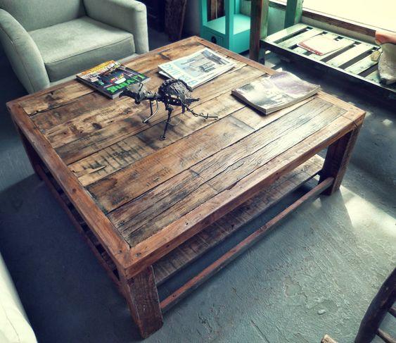 Mesa ratona rustica madera tablones reciclar reciclado - Mesa madera rustica ...