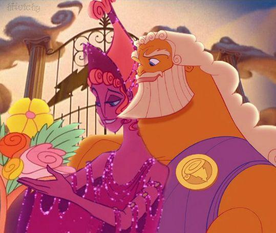 Hercules disney zeus