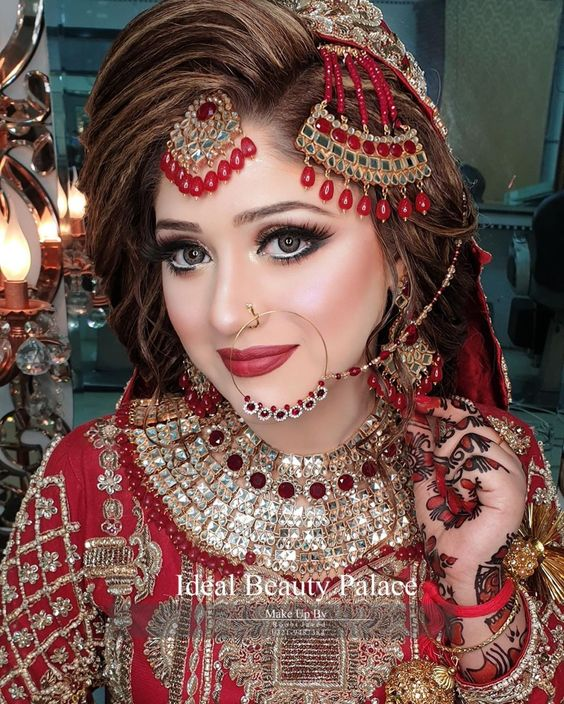 Ideal Beauty Palace On Instagram Make Is Art Beauty Is Spirit A Beautiful Barat Makeover Of Your Sw In 2021 Hd Bridal Makeup Ideal Beauty Pakistani Bridal Makeup