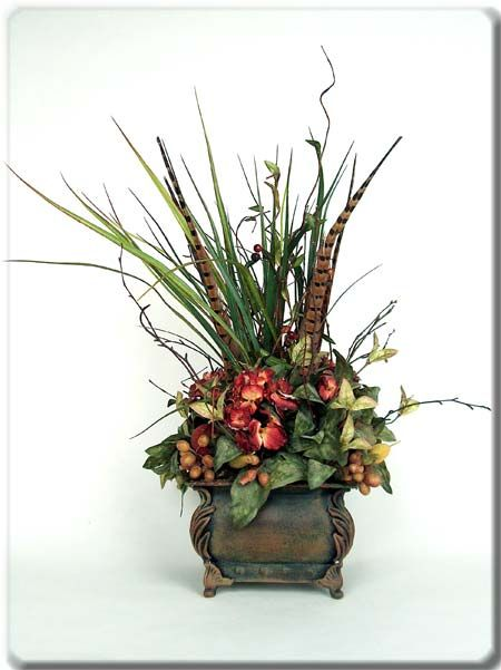 Feathers nice and the o 39 jays on pinterest for Make your own flower arrangement