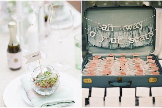 Hochzeitsgeschenke planner originalle Tischkarten Ideen DIY Originelle ...