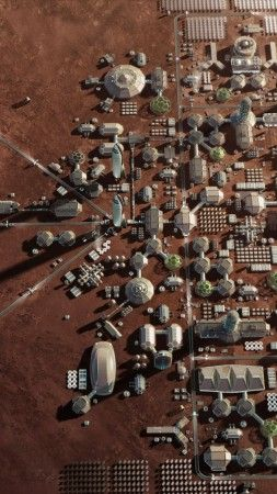 Mars Base Mars Colony Space X Hd Vertical Spacex Mars Space Space And Astronomy