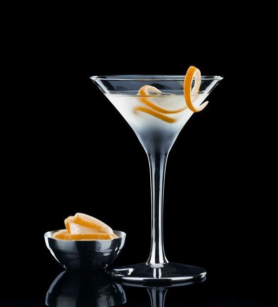 ... Vodka, ½ Part of Kina Lillet or Lillet Blanc, a slice of lemon peel