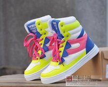 2015 nieuwe aankomst Lift 1.5cm vrouwen schoenen sport schoenen casual hoogte toenemende 1.5cm multicolour hoge sneakers (China (vasteland))