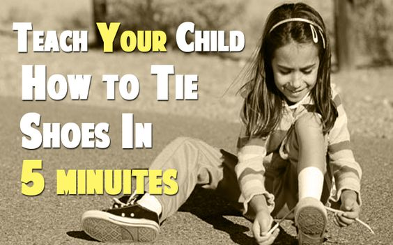 how to teach a 6 year to tie shoes in 5 minutes