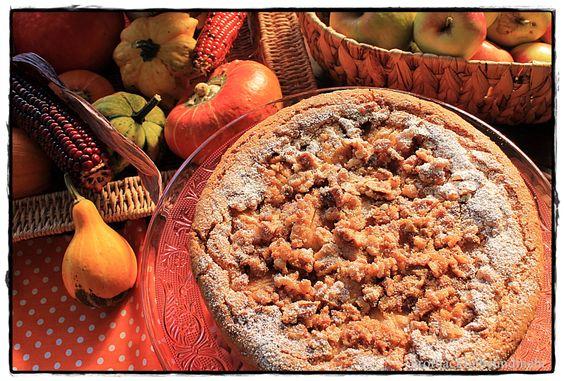 Apfelkuchen mit karamellisierten Walnüssen brotbackliebeundmehr Foodblog
