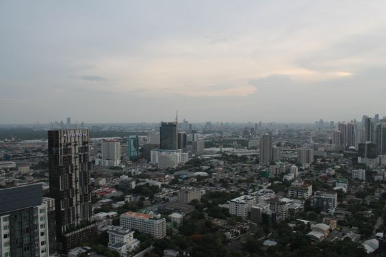 Spectacular Bangkok city view from the 48th floor rooftop at The Octave Rooftop Lounge & Bar.