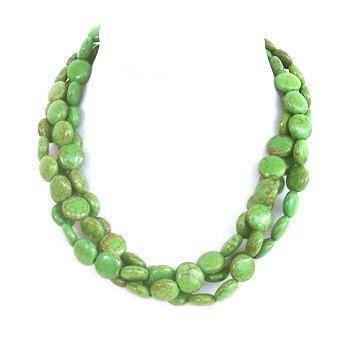 Chunky apple green necklace  statement by BijouxDesignsStudio, $39.00