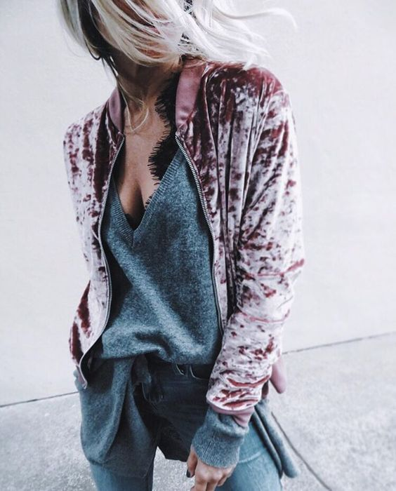Crushed velvet is one of my favorite fashion trends! It goes with everything!