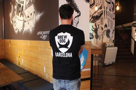 Brew dog uniform, custom printed shirts