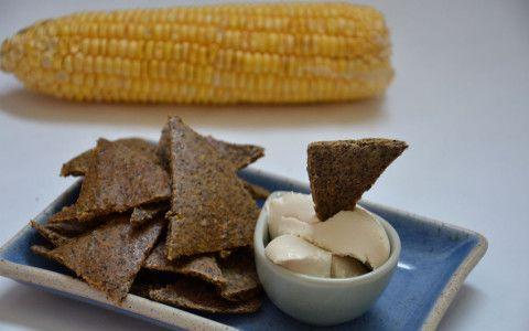 Mais-Cracker mit Hanfsamen