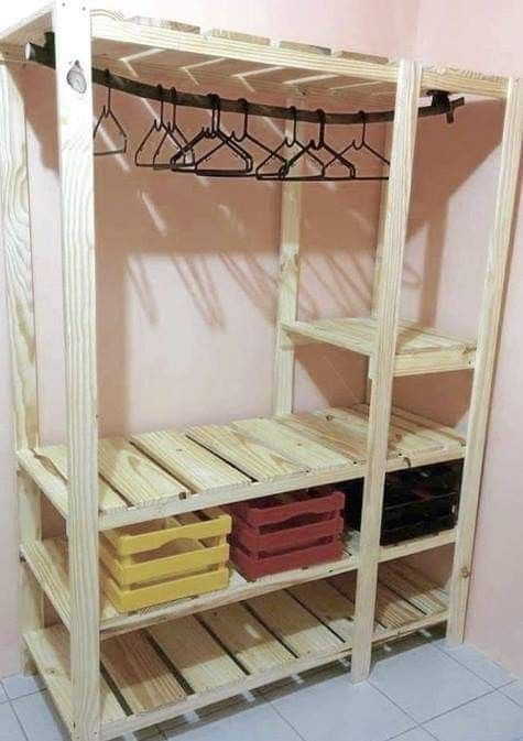 Pin By Hild On Crafts Diy Projects Home Decor Furniture Pallet Wardrobe Home Diy