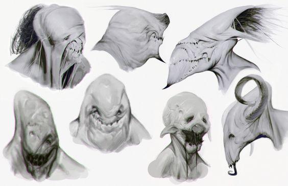 Creature Sketches 01, Sergiy Kasianchuk on ArtStation at https://www.artstation.com/artwork/satanic-creatures-2