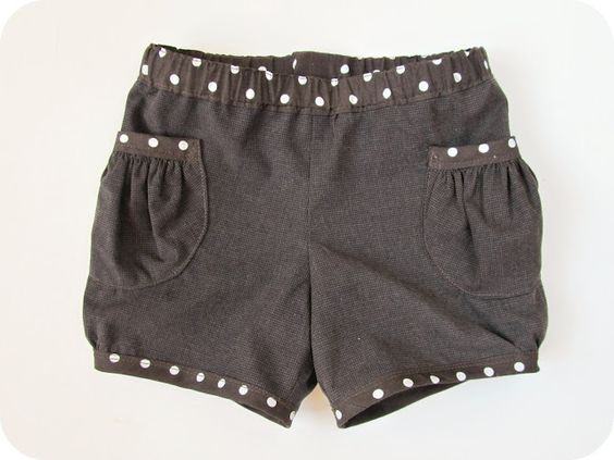 homemade by jill- shorts for the girls