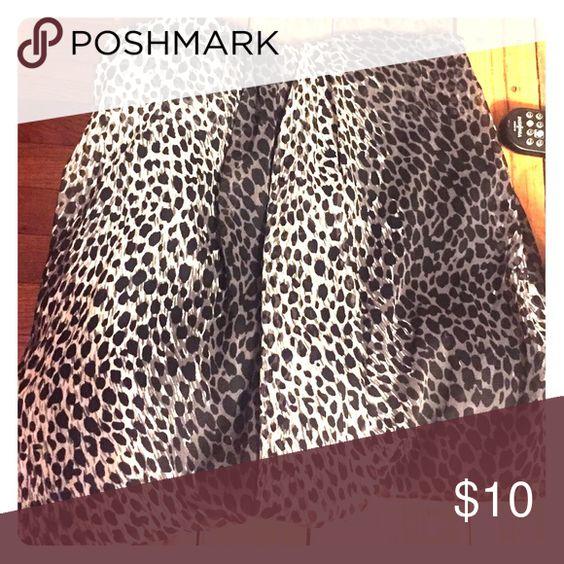 Forever 21 black leopard print dress Forever 21 Black Leopard Print Dress Forever 21 Dresses Strapless