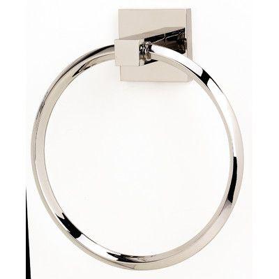 Alno Contemporary II Wall Mounted Towel Ring & Reviews   Wayfair