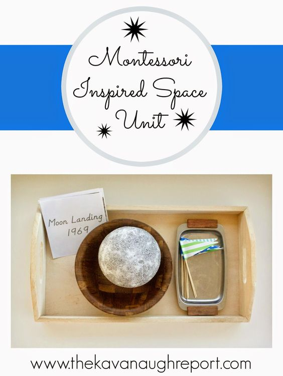 Montessori Inspired Space Theme -- space themed activities for preschoolers and toddlers