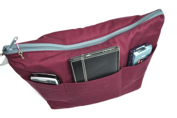 Womens camera bag in Merlot red / Camera Bag Insert 4 your purse or backpack and photography equipment -foam padded /  by Darby Mack Designs...