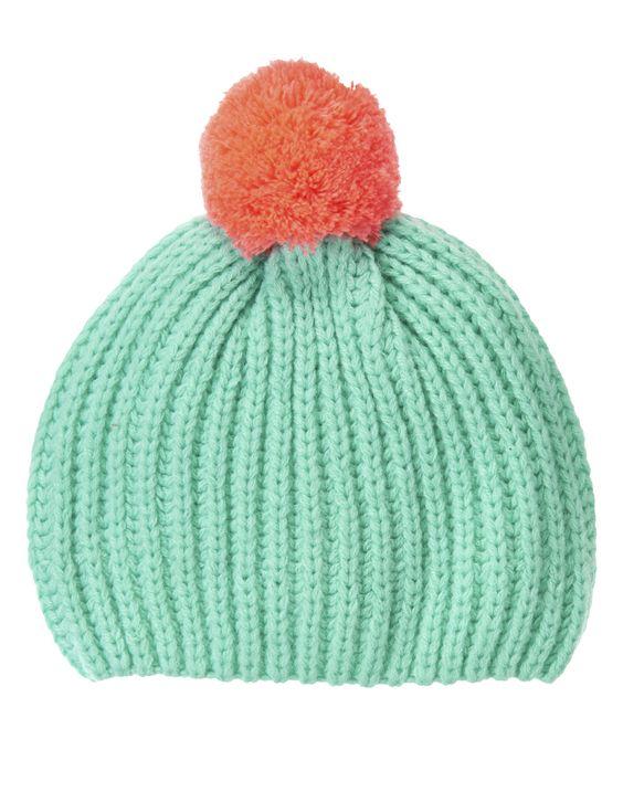 Pom-Pom Sweater Hat at Crazy 8