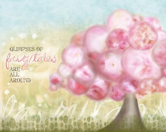 """""""Pink Bliss"""" - my first digital art piece - Cherry Blossom tree  - love them so much!"""