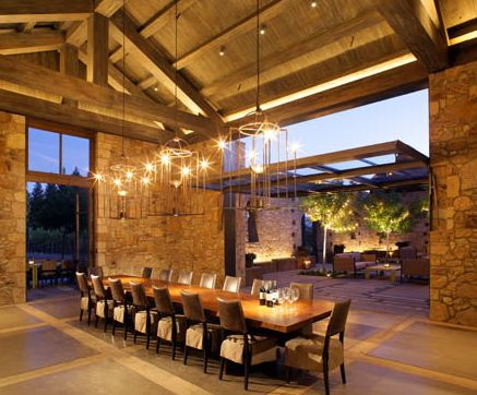 dining under the porch - wow what a porch!