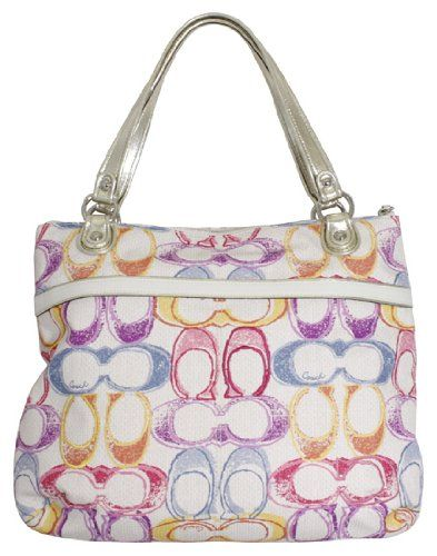 Coach Poppy Signature Dream C Glam Tote Multicolor Bag « Only Women's Clothing $197.99