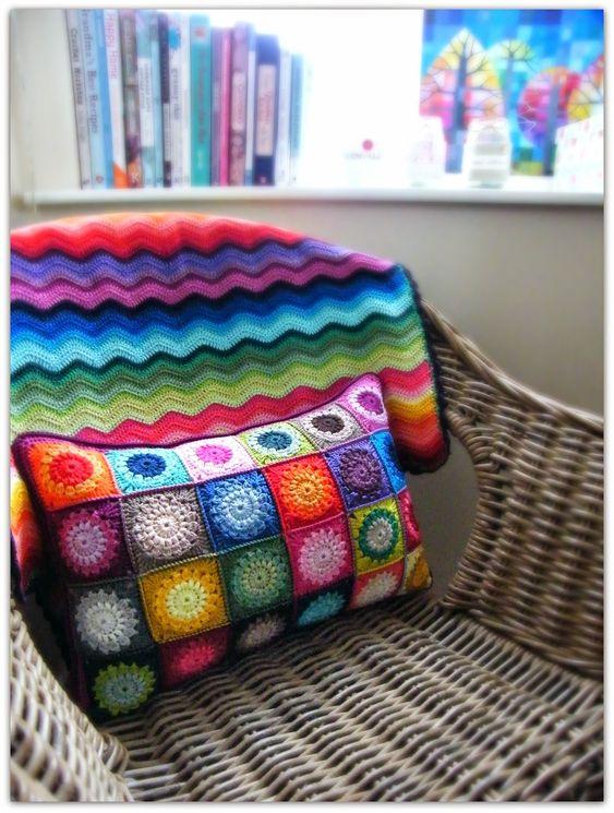 cojines ganchillo crochet cojines almohadones crochet colchas chulsimas cojines decorativos mantas de ganchillo cobijas cojin multicolor