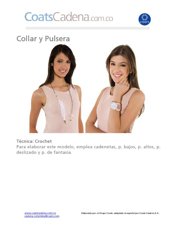 patrones asgaya: COLLAR Y PULSERA A CROCHET