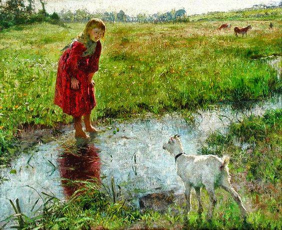 Evariste Carpentier ~ Belgian Luminist painter: