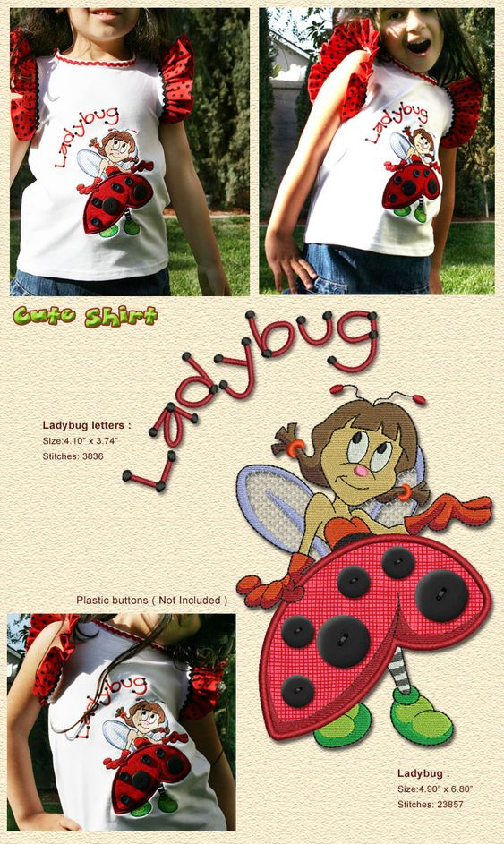 Ladybug Embroidery Designs Free Embroidery Design Patterns Applique