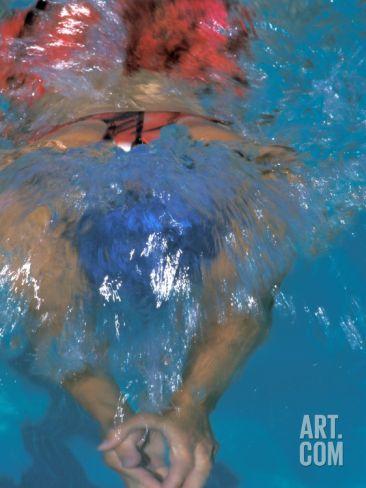 Girl Swimming, Santa Fe, New Mexico, USA Photographic Print by Lee Kopfler at Art.com JEN