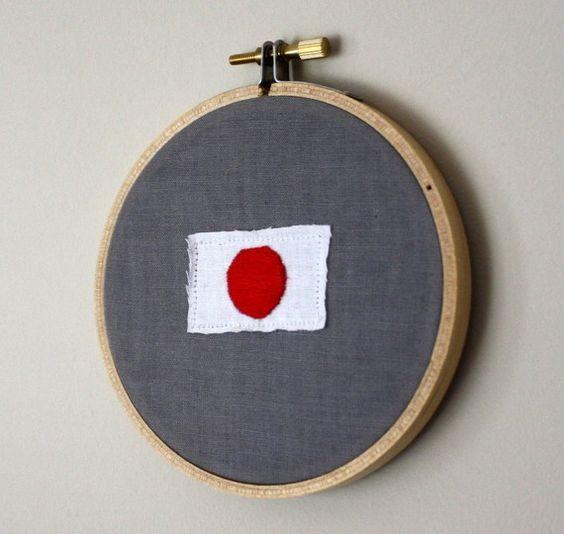 Japan Relief  #etsy #hoop #japan