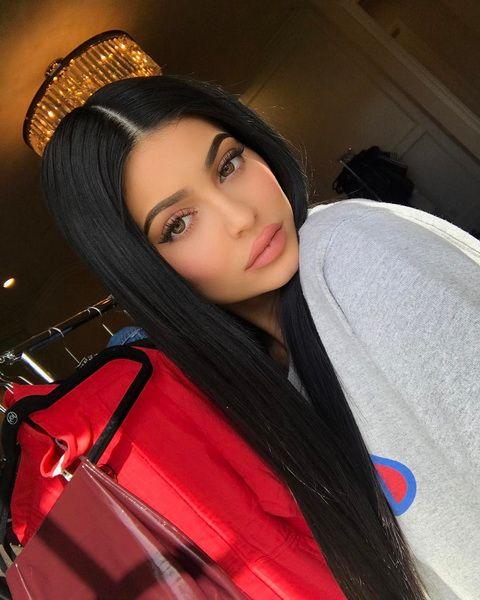 Kylie Jenner Long Black Hair Hairstyles In 2019 Kylie