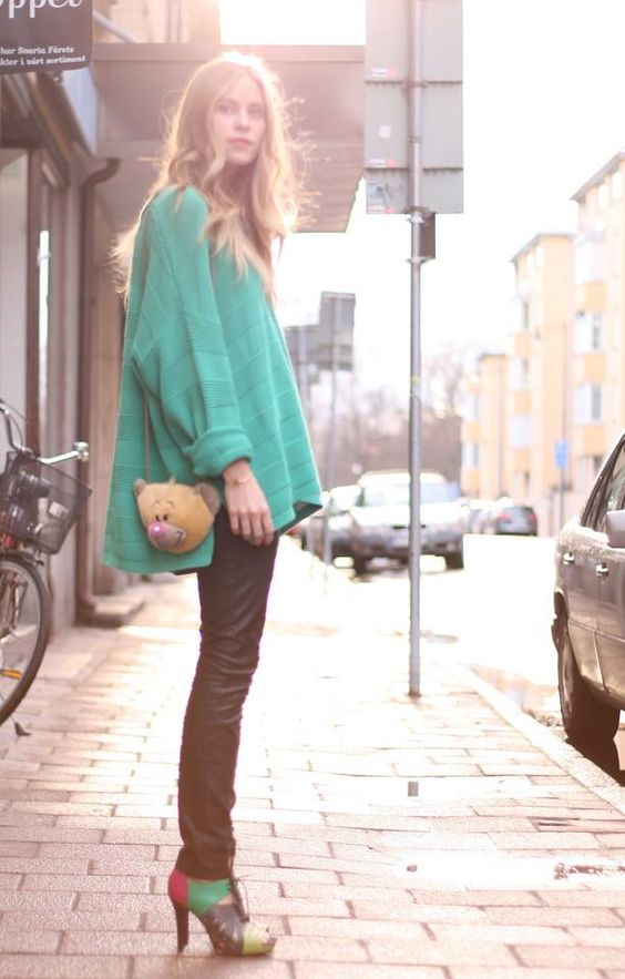 Shop this look on Kaleidoscope (sweater, pants, heels)  http://kalei.do/W1U4bJw1zfyi0VRd