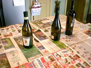Wine bottles=Christmas display - Cleverly Inspired: